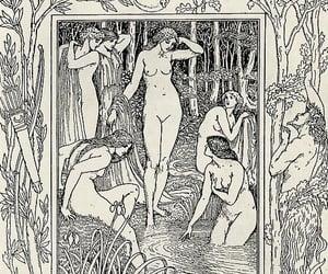 artemis, greek myth, and moon image