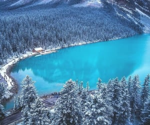 canada, lake, and snow image