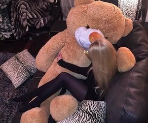 bear, lady, and luxury image