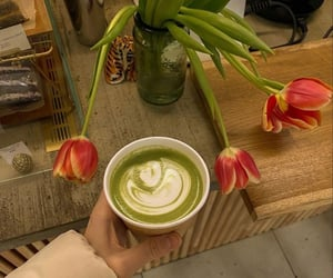 beauty, blogger, and coffee image