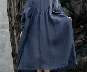 etsy, plus size clothing, and navy blue dress image