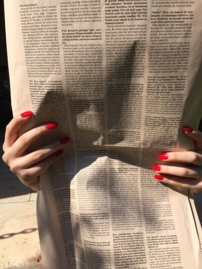nails, newspaper, and aesthetic image