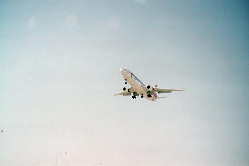 sky, plane, and travel image