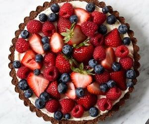 fruit, strawberry, and cake image