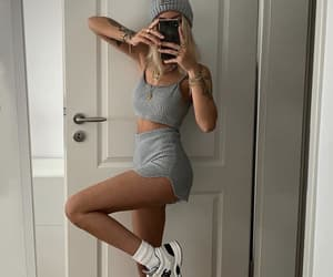 clothes, knit, and sporty image
