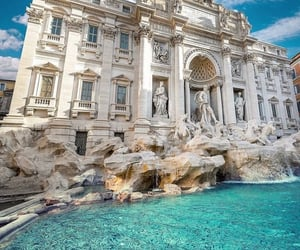 fountain, italy, and rome image