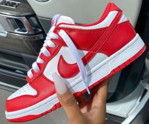 sneakers, red, and nike image