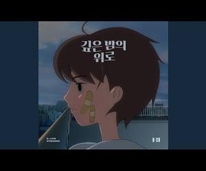 bi, midnight blue, and kim hanbin image