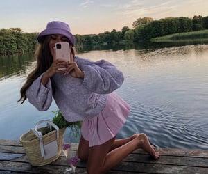 aesthetic, fashion, and lake image