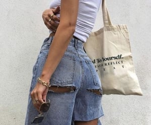 accesories, chic, and denim image