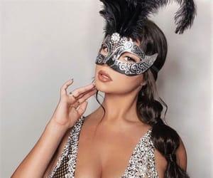 brunette, coachella, and face mask image
