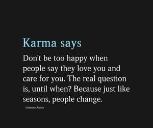 care, karma, and temporary image