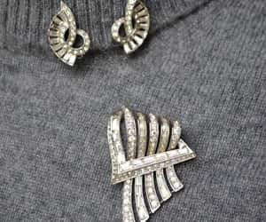 etsy, rhodium plated, and brooch and earrings image
