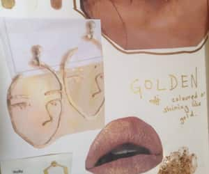 board, earrings, and gold image