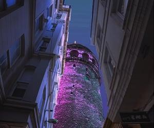 aesthetic, galata kulesi, and purple image