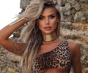 beach, Hot, and leopard print image