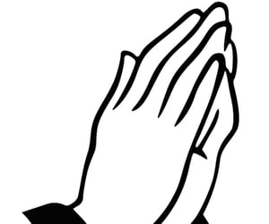 clipart, praying, and hands image