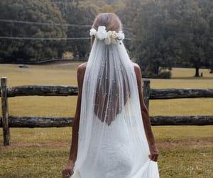 bride, dress, and wedding dress image