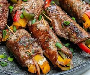 Steak Fajita Roll-Ups for Clean Eats made from 13 ingredients