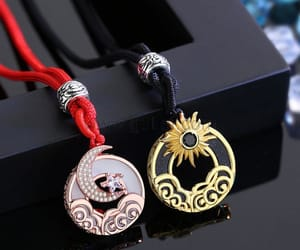 christmas gift, bff necklaces, and couple jewelry image