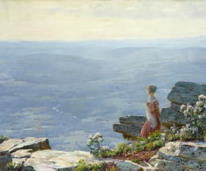 american painter, haze in the valley, and by charles curran image