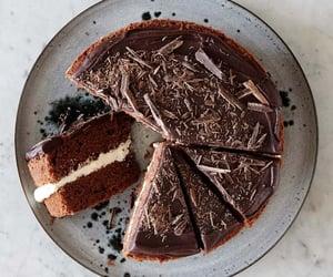 cake, milk chocolate, and food image