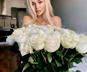 barbie, floral, and flowers image