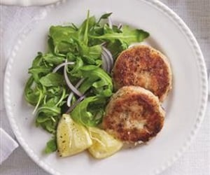 food, salmon, and fishcakes image
