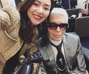 fashion, karl lagerfeld, and liu wen image