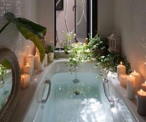 bath, plants, and candle image