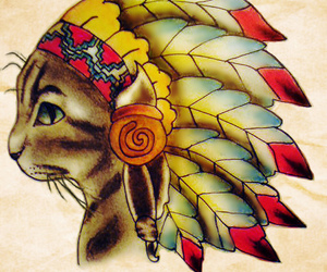 american indian, blue eyes, and hat image