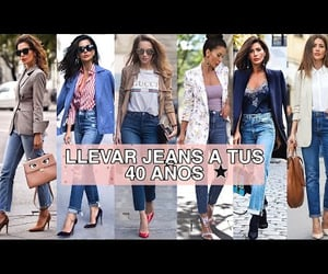 jeans, lookbook, and moda image