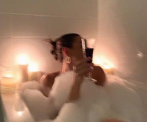 girl, bath, and aesthetic image