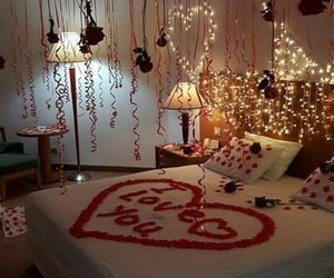 date, bed, and red image
