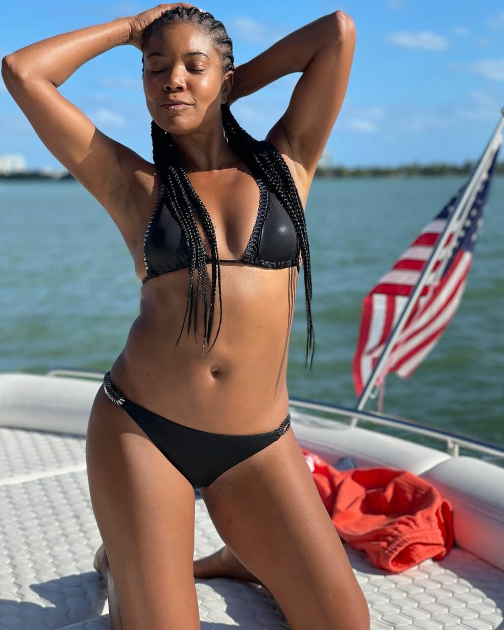 Gabrielle Union in Bikinis at a Boat