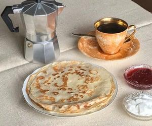 food, coffee, and crepes image
