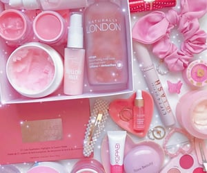 pink, skincare, and rare beauty image