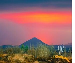 iceland, 2021, and volcano eruption image