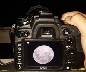 moon, nikon, and Noche image