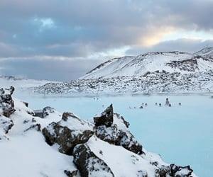 iceland, geothermal, and mineral baths image