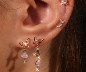 butterflies, earrings, and Piercings image