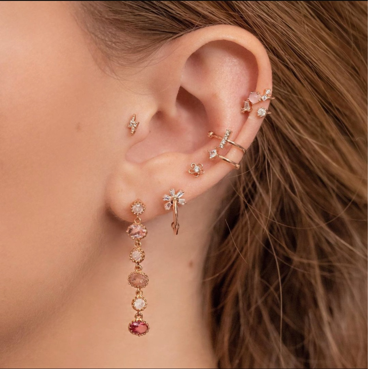 delicate, earrings, and girly image