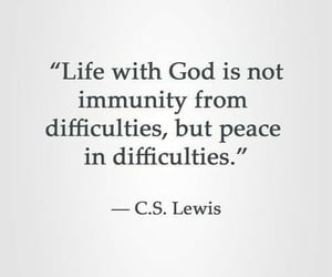 god, quotes, and c.s. lewis image