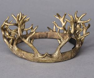 crown, fantasy, and gold image