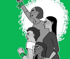 women, feminismo, and aborto legal image