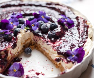 blueberry, cake, and cakes image