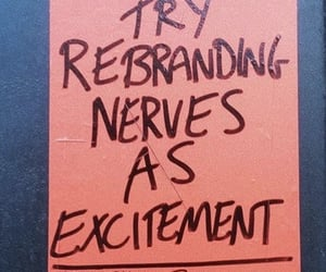 advice, excitement, and nerves image