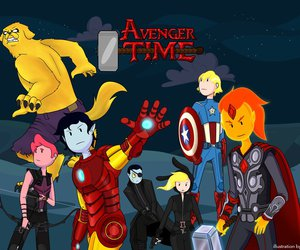 adventure time, hora de aventura, and Avengers image