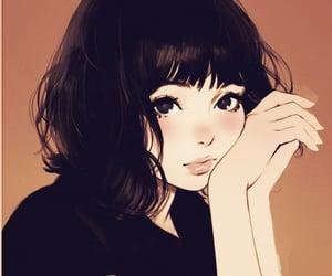 anime girl, twitter, and illustration image