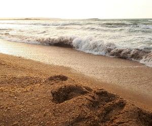 sand, sea, and seaside image